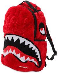 "Sprayground Mochila ""fur Monster"" - Rojo"
