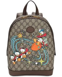 Gucci Gg Disney Canvas Backpack - Brown