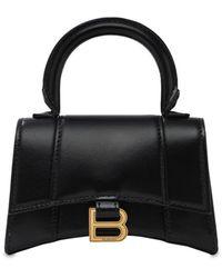 Balenciaga - Mini Hourglass レザートップハンドルバッグ - Lyst