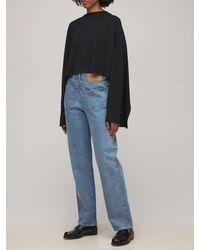 MM6 by Maison Martin Margiela Layered Cotton Jersey T-shirt - Black