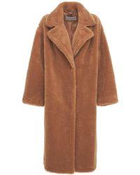 Stand Studio Maria Soft Faux Fur Coat - Brown