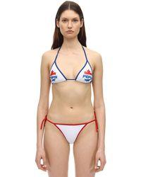 DSquared² - Pepsi Print Triangle Bikini Top - Lyst
