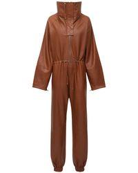 """Dodo Bar Or Jumpsuit Aus Leder """"piki A"""" - Braun"""