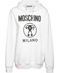 Moschino - Hoodie Aus Fleece Mit Druck - Lyst