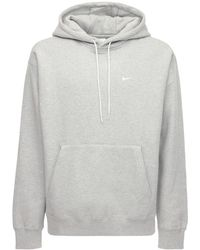Nike Lab Cotton Blend Sweatshirt Hoodie - Grey