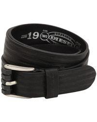 DIESEL - 35mm Stripes Embossed Leather Belt - Lyst