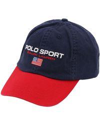 """Polo Ralph Lauren Baseballkappe Aus Baumwolle """"classic Polo Sport"""" - Blau"""