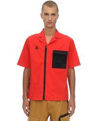 """Nike Hemd Uas Nylonmischung """"nrg Acg"""" - Rot"""