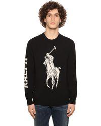 Polo Ralph Lauren Intarsien-Pullover mit Logo - Schwarz