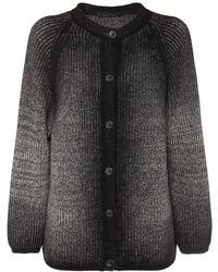 Alberta Ferretti Organic Cotton & Wool Knit Cardigan - Multicolour
