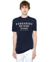 DSquared² - T-shirt Aus Wolle Mit Druck - Lyst