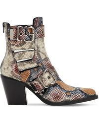 """Jeffrey Campbell - Stivali """"guadalupe"""" In Pelle Stampa Serpente 75mm - Lyst"""