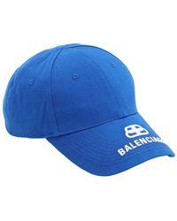 Balenciaga Bb Cotton Baseball Hat - Blue