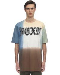 Faith Connexion Over Deep Dye Cotton Jersey T-shirt - Multicolour
