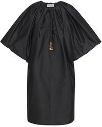 Lanvin シルクブレンドミニドレス - ブラック