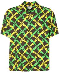 Bottega Veneta Рубашка С Принтом С Короткими Рукавами - Зеленый