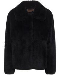 Yves Salomon ファージャケット - ブラック