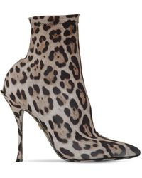 Dolce & Gabbana Leopard-printed Lori Booties - Black