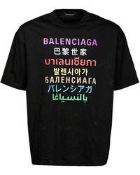 Balenciaga Хлопковая Майка С Принтом - Черный