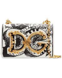 Dolce & Gabbana Dg Girl Graffiti レザーバッグ - マルチカラー