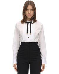 COACH コットンポプリン タキシードシャツ - ホワイト