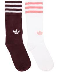 adidas Originals - 2 Pairs Of Solid Crew Socks - Lyst