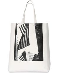 CALVIN KLEIN 205W39NYC American Flag Nappa Leather Tote Bag - Black