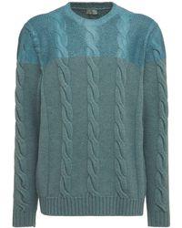Etro Gestrickter Wollsweater - Blau