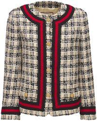 Gucci - Veste En Tweed De Laine Mélangée Multicolore - Lyst