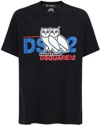 """DSquared² T-shirt Aus Jersey Mit Logodruck """"ovo Capsule"""" - Schwarz"""