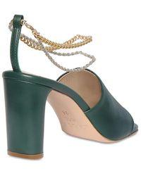 Kalda 70mm Inez Leather Sandals - Green