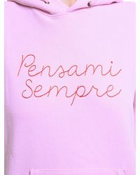 Giada Benincasa Pensami Sempre Embroidered Hoodie - Mehrfarbig