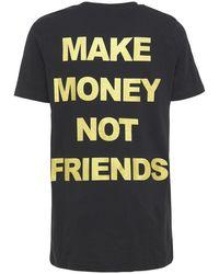 MAKE MONEY NOT FRIENDS コットンジャージーtシャツ - ブラック