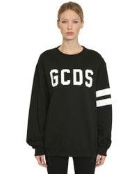 Gcds 夜光ロゴプリント スウェットシャツ - ブラック