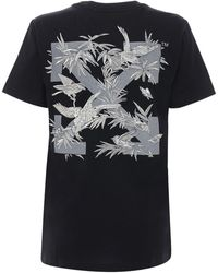 Off-White c/o Virgil Abloh - T-shirt Aus Baumwolljersey Mit Druck - Lyst