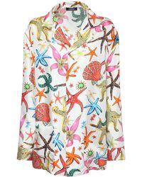 Versace シルクツイルシャツ - マルチカラー