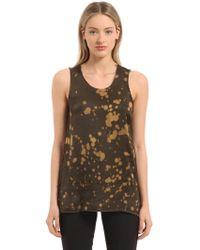 Damir Doma - Bleached Washed Satin Tank Top - Lyst