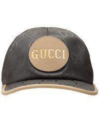 "Gucci Baseballkappe Aus Nylon ""gg Off The Grid"" - Grau"