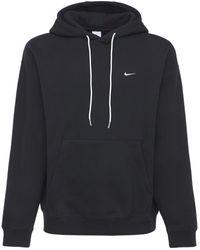 "Nike Hoodie Aus Fleece ""solo Swoosh"" - Schwarz"
