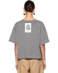 Marni - Striped Cotton Jersey T-shirt - Lyst