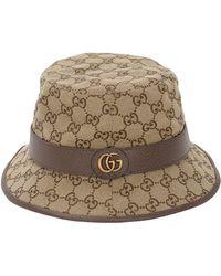 5d15541c1d1ef7 Gucci Bucket Hat in Natural for Men - Lyst