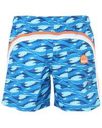 Sundek Shorts Mare In Nylon - Blu