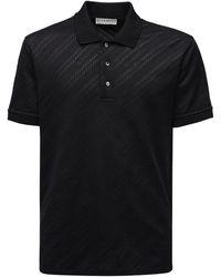 Givenchy Logo Jacquard Viscose & Cotton Polo - Black