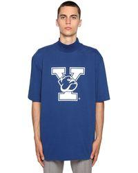 CALVIN KLEIN 205W39NYC University ハイカラーtシャツ - ブルー