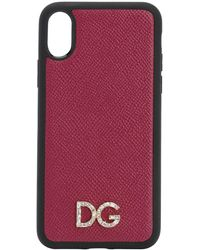Dolce & Gabbana Iphone X/xs -cover Mit Logo - Mehrfarbig