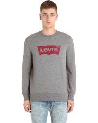 Levi's - Logo Crewneck Cotton Sweatshirt - Lyst