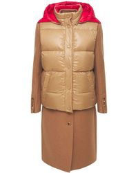 Burberry Camel Hair Tailored Coat with Detachable Gilet - Mehrfarbig