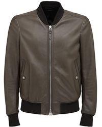 Tom Ford Plongé Leather Bomber Jacket - Brown