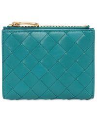 Bottega Veneta Бумажник Intrecciato Bi-fold - Синий
