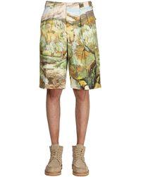 Jacquemus Bermuda En Lin Et Coton Imprimés - Multicolore